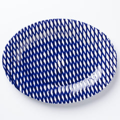 Net & Stripe Net Medium Oval Platter
