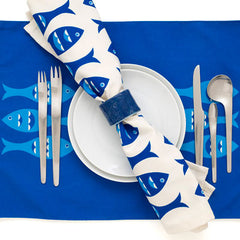 Blue Fish Modern Eco Napkins - Set of 2