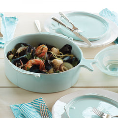 Lastra Fish Aqua Medium Serving Bowl