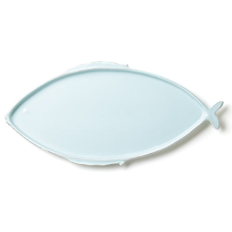 Lastra Fish Aqua Large Oval Platter