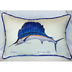 Betsy Drake Sailfish Pillow- Indoor/Outdoor