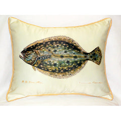 Betsy Drake Flounder Pillow- Indoor/Outdoor