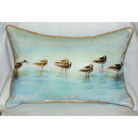 Betsy Drake Avocets Pillow- Indoor/Outdoor