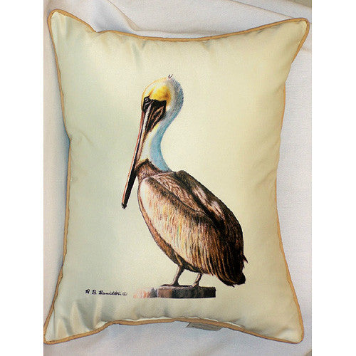 Betsy Drake Pelican Pillow- Indoor/Outdoor