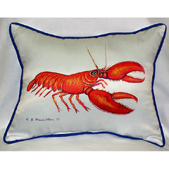 Betsy Drake Red Lobster Pillow- Indoor/Outdoor