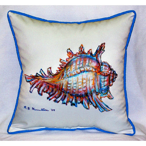 Betsy Drake Conch Shell Pillow- Indoor/Outdoor