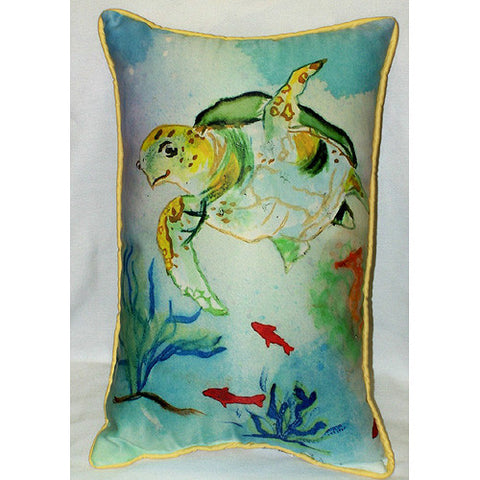 Betsy's Sea Turtle Pillow- Indoor/Outdoor