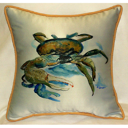Betsy Drake Fiddler Crab Pillow- Indoor/Outdoor