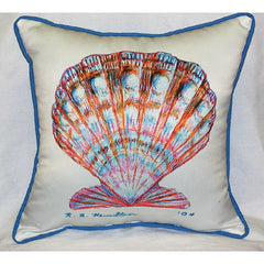 Betsy Drake Scallop Shell Pillow- Indoor/Outdoor