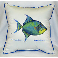 Betsy Drake Trigger Fish Pillow- Indoor/Outdoor
