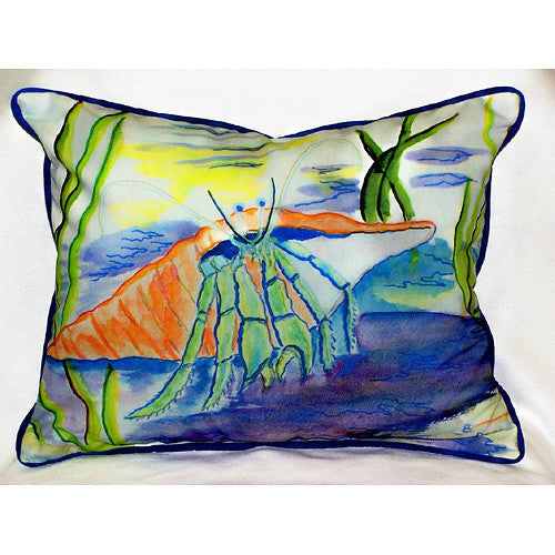 Betsy Drake Hermit Crab Pillow- Indoor/Outdoor
