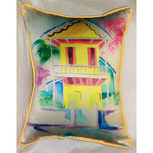 Betsy Drake West Palm Hut Yellow Pillow