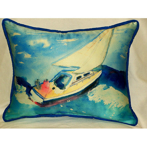 Betsy Drake Sailboat Pillow- Indoor/Outdoor