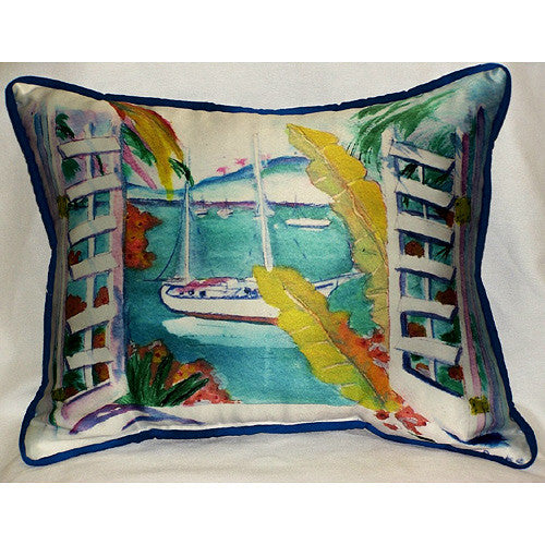 Betsy Drake Bay View Pillow- Indoor/Outdoor