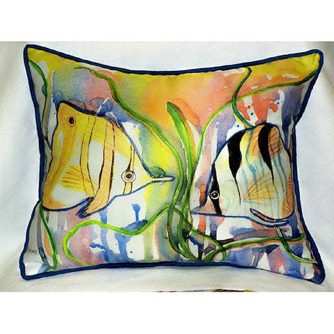 Betsy Drake Angel Fish Pillow- Indoor/Outdoor