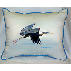 Eddie's Blue Heron Pillow- Indoor/Outdoor