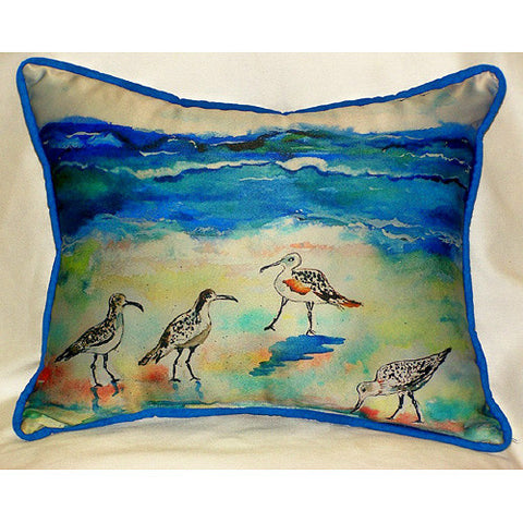 Betsy's Sandpipers Pillow- Indoor/Outdoor