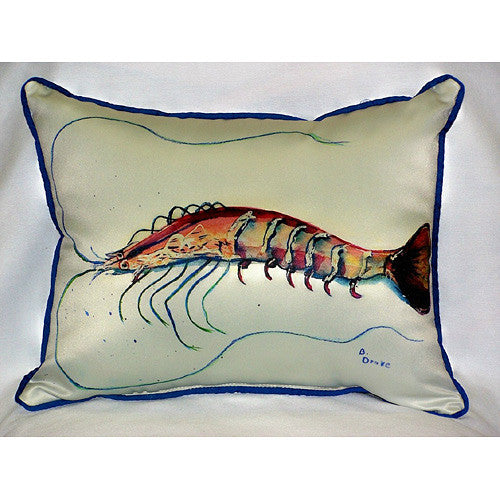 Betsy's Shrimp Pillow- Indoor/Outdoor