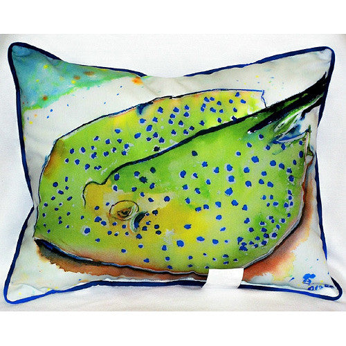 Betsy Drake Stingray Pillow- Indoor/Outdoor