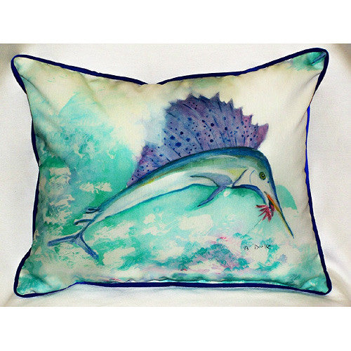 Betsy's Sailfish Pillow- Indoor/Outdoor