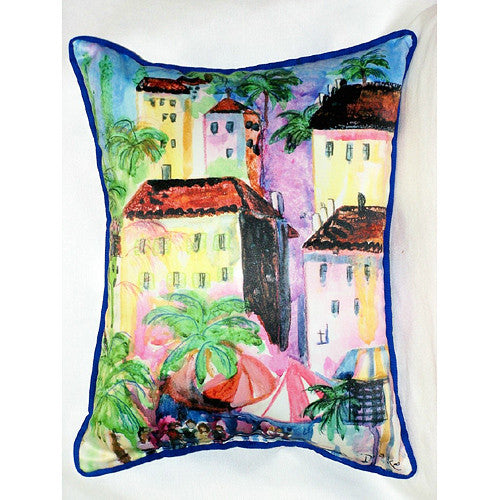 Betsy Drake Fun City I Pillow- Indoor/Outdoor