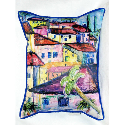 Betsy Drake Fun City II Pillow- Indoor/Outdoor