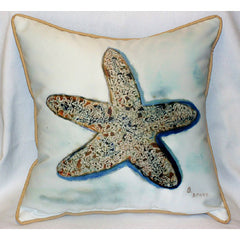 Betsy Drake Starfish Pillow- Indoor/Outdoor