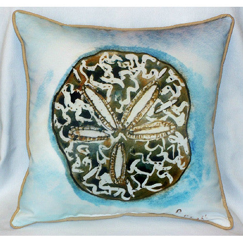 Betsy Drake Sand Dollar Pillow- Indoor/Outdoor