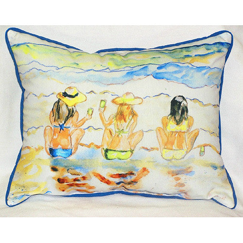 Betsy Drake Bottoms Up Pillow- Indoor/Outdoor