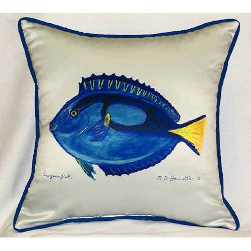 Betsy Drake Surgeon Fish Pillow- Indoor/Outdoor