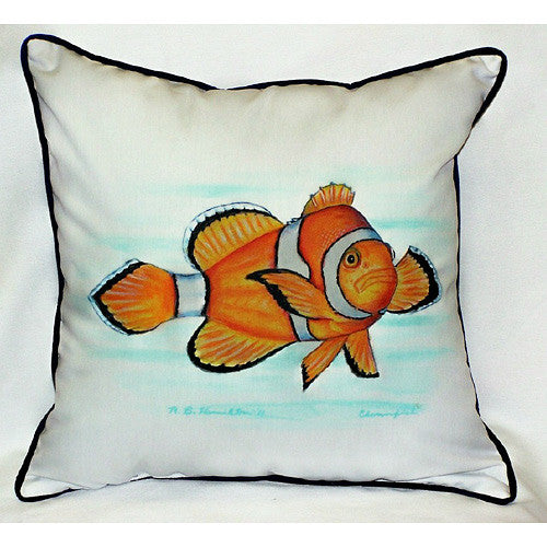 Betsy Drake Clownfish Pillow- Indoor/Outdoor