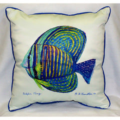 Betsy Drake Sailfin Tang Pillow- Indoor/Outdoor