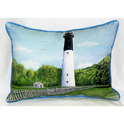 Betsy Drake Hunting Island Lighthouse Pillow- Indoor/Outdoor