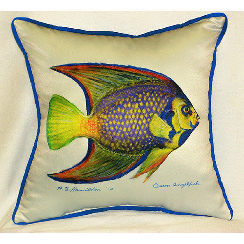 Betsy Drake Queen Angelfish Pillow- Indoor/Outdoor