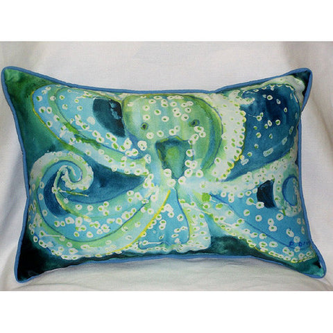 Betsy Drake Octopus Pillow- Indoor/Outdoor
