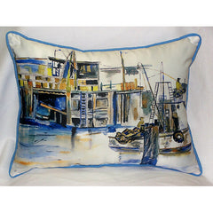Betsy Drake Fishing Boat Pillow- Indoor/Outdoor
