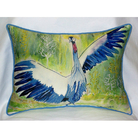 Betsy Drake Dancing Crane Pillow- Indoor/Outdoor