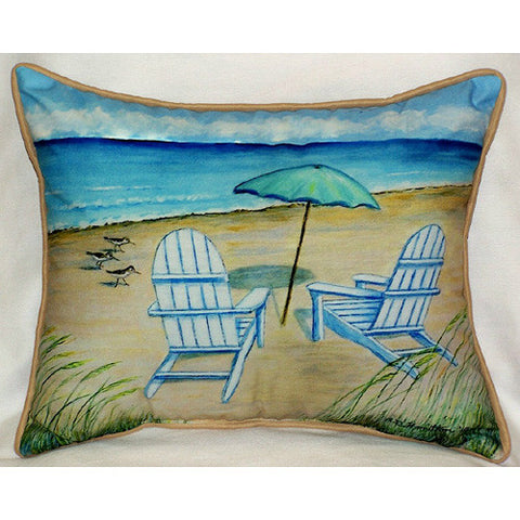 Betsy Drake Adirondack Chairs Pillow- Indoor/Outdoor