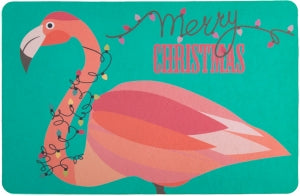 Flamingo Christmas Floor Mat