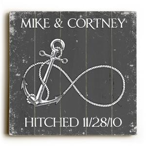 Custom Infinity Anchor Sign - Gray