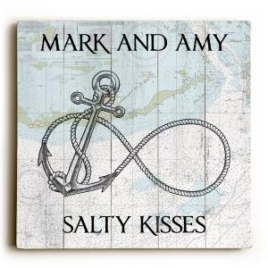 Custom Infinity Anchor Sign - Nautical Chart