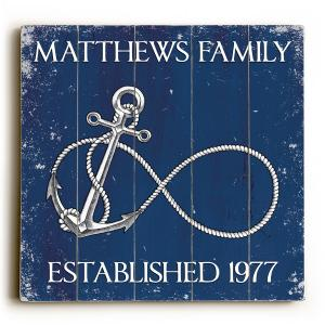 Custom Infinity Anchor Sign - Navy