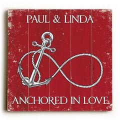 Custom Infinity Anchor Sign - Red