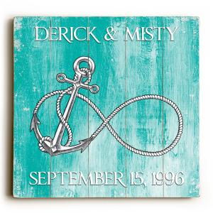 Custom Infinity Anchor Sign - Sea Green