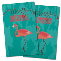 Flamingo Christmas Hand Towel (Set of 2)