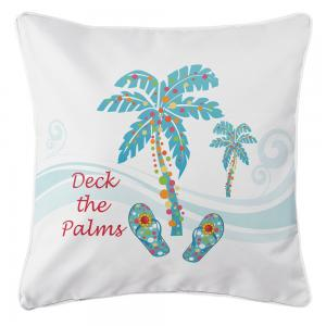 Deck the Palms Pillow