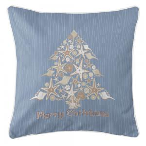 Seashell Christmas Tree Pillow