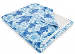 Blue Fish Bubbles Fleece Throw Blanket