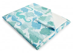 Seahorses Fleece Throw Blanket