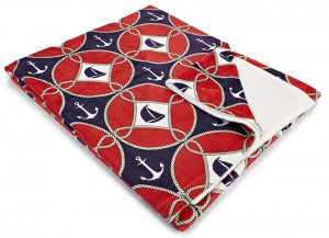 Sailboats & Anchors Fleece Throw Blanket